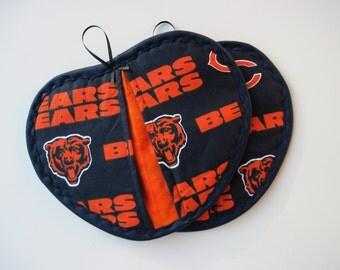 Chicago Bears  pot holder pot pincher  hot pad set of 2