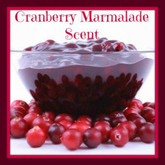 CRANBERRY MARMALADE Scented Soy Wax Melts - Holiday Cinnamon Clove Citrus Soy Candle Tarts - Hand Poured - Highly Scented - Handmade In USA