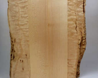 Wooden Cutting and Serving Board - Figured Big-Leaf Maple - hostess, wedding, chef, foodie, charcuterie, cheese