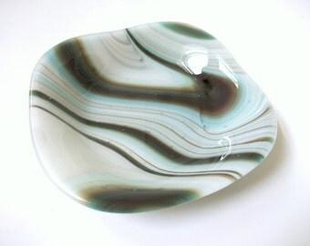 Earth Tones Fused Glass Bowl