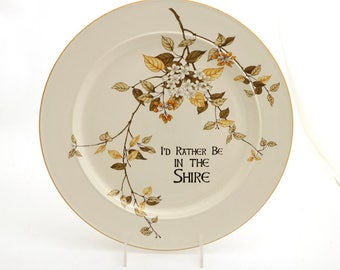 Hobbit inspired pancake barbeque platter - I'd rather be in the shire - Lord of the Rings - Elvish - Bilbo Baggins - Tolkien