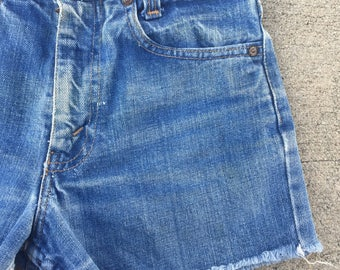The Vintage Levi Strauss Rancher Blue Shorts WAIST 25