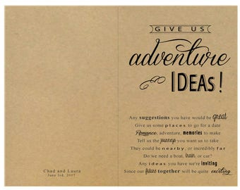 Suggestion Book for Wedding Reception Table // Custom Text
