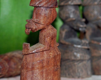 unusual vintage wooden African chess piece, Cool Vintage, K