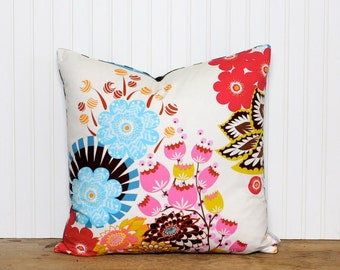 Bohemian Floral Pillow - Cushion Cover - Accent Pillow - Reversible - Modern Decor - Geometric - Colorful