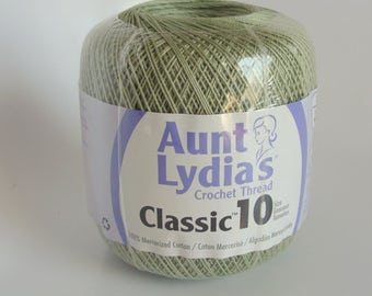 Aunt Lydia's Classic 10 Cotton Crochet Thread - Frosty Green
