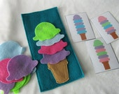 Ice Cream Pattern Game - Felt - Ready to ship