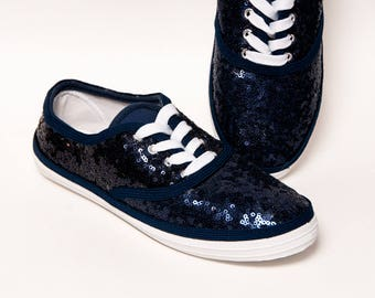 Sequin - CVO Navy Blue Canvas Sneakers Tennis Shoes