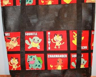 Pokemon Vinyl Mesh Tote