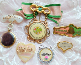 ALTERED ART SUPPLIES vintage medals and jewelry for mixed media, altered art or jewelry making