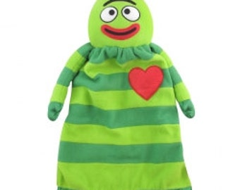 Baby Lovie Blanket, Yo Gabba Gabba Brobee Lovie, Custom Embroidered Name Included