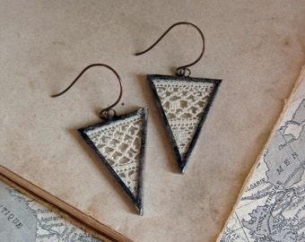 Lace Earrings Boho Triangle Earrings