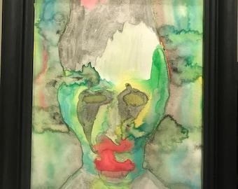 marilyn manson watercolor