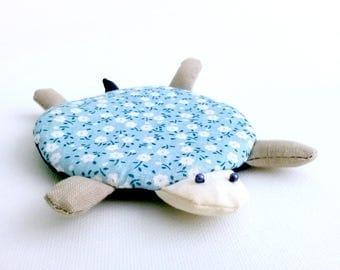 Fabric Coasters, Turtle Coaster, Modern Coaster, Mug Cozy, Coasters, Kawaii Gift, Animal Coaster, Unique Coaster, Cute Turtle, drink coaster
