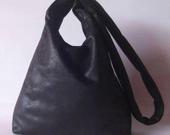 Handbag synthetic leather faux leather hobo bag vegan shoulder bag lined handmade