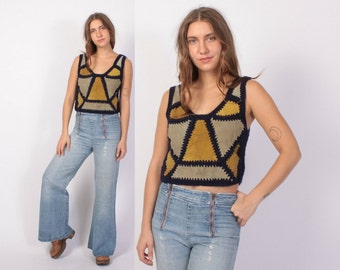 Vintage 70s BELL BOTTOMS / 1970s High WaistFaded Blue Wide Leg Double Zip Front JEANS