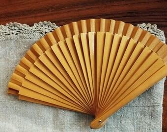 Paper and wood Elegant Fan