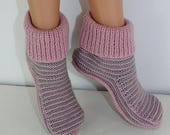 50% OFF SALE Adult Stripe Boots knitting pattern by madmonkeyknits - Instant Digital File pdf download knitting pattern