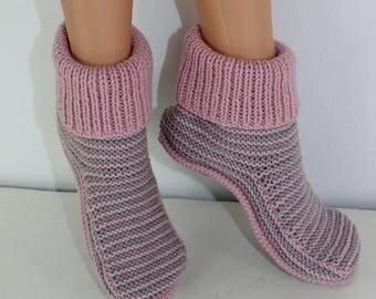 50% OFF SALE Adult Stripe Boots knitting pattern by madmonkeyknits - Instant Digital File pdf download knitting pattern