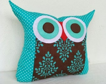Owl pillow /Teal/tree/home decoration pillow/ large size(large size)
