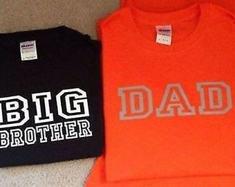 Big And Little Brother And Dad Shirt Set Of 3