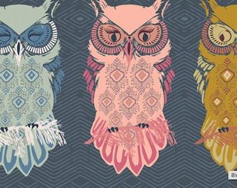 Butterflies Nightfall Collection Bird of Night Slate Art Gallery Fabric