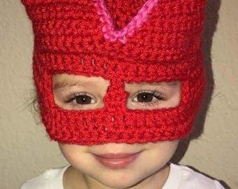 Red Owl Crochet Mask