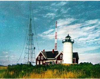 Vintage Cape Cod Postcard - Nobska Light (Unused)