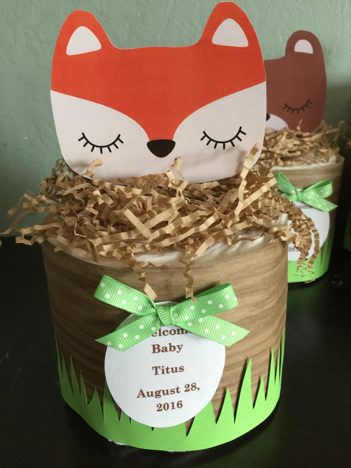 woodland diaper cakes baby shower woodland themed baby shower decor forest animals