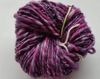 Wild Grape single ply art yarn