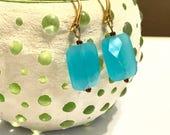 Moonshadow Earrings - Faceted glass beads - elegant earrings