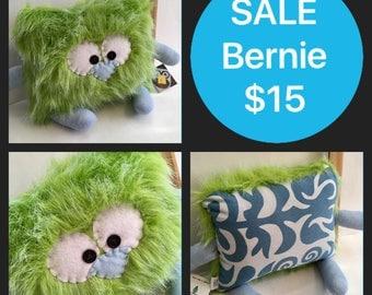 SALE Bernie the Pillow Pal Monster