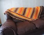 Vintage 70's crochet afgan/ bedspread