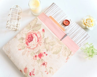 "Rose Pink Laptop Case 11"", 13"", Laptop Sleeve 15"", Laptop Sleeve Case Padded with Pocket - Wood + Floral"