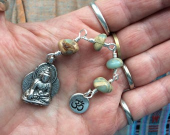The Loving Kindness Mala in Silver and AquaTerra. A Fundraiser for Alzheimer's Research