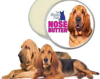 Bloodhound ORIGINAL NOSE BUTTER® Handcrafted Moisturizing Salve for Dry Dog Noses Choice of 1 oz, 2 oz or 4 oz Tin with Bloodhound on Label