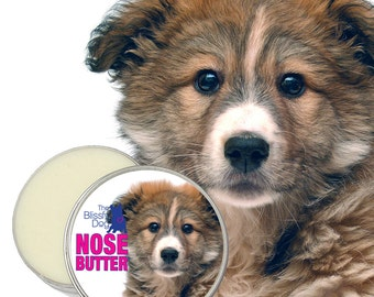 Mixed Breed Puppy NOSE BUTTER® Handcrafted All Natural Balm for Crusty or Dry Dog Noses 1 oz, 2 oz or 4 oz Tin with Mixed Breed Dog Label