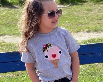 Yummy Naughty Ice-cream Kids T-Shirt - Grey