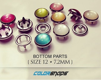 10 COLORS • Pearl Snaps • Size 12 • 9/32 • 5/16 • 8 mm • Snap • Button • Fastener • No Sew • Pearlized • Doll • Mini • Small • Smallest