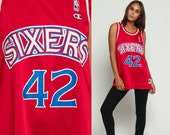 76ers Jersey Basketball Jersey Shirt Philadelphia 76ers Jerry STACKHOUSE Retro Sports Throwback 90s Number Vintage Nba 1990s Large