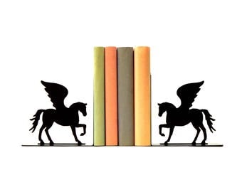 Pegasus Metal Art Bookends - Free USA Shipping