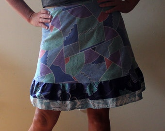 Knee length Wrap Skirt, retro (one size fits most small - large)
