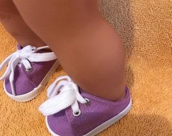 Purple doll shoes