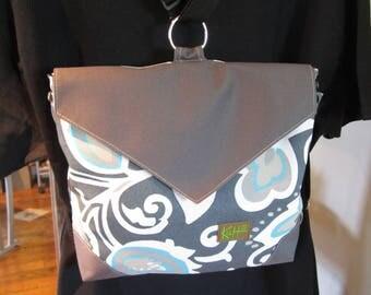Convertible backpack, purse, handbag, crossover bag, messenger