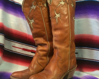 5 womens wrangler leather Cowboy boots