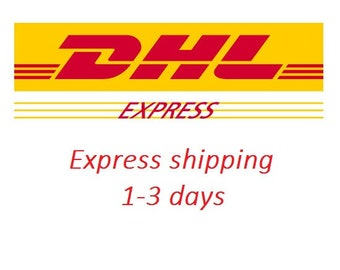 DHL Express shipping // priority shipping // WORLDWIDE  // 1 - 3 business days