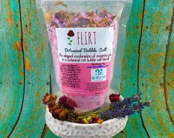 FLIRT Botanical BuBBle Salt, Essential Oils, Mineral Rich Salt, Loaded with Botanicals and Bubbles