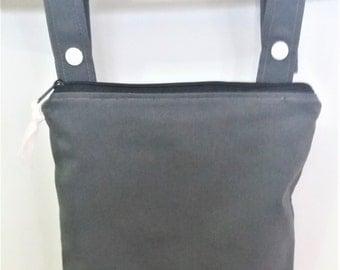 Gray wet bag, cloth diaper wet bag, Kitchen wet bag, swimsuit bag, hanging wet bag, wet bathing suit bag, cloth diaper bag
