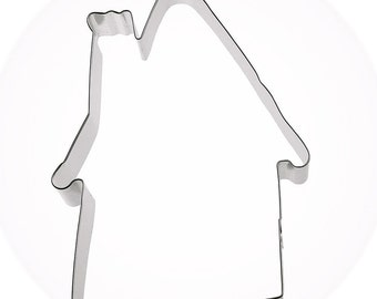 """Large Gingerbread House Cookie cutter, 6.75"""" Haunted House cookie cutter, Halloween cookie cutter, Easter house cookie cutter"""
