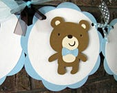 Teddy Bear Party Banner and Favor Tags - Reserved for TEACHAMANDA05
